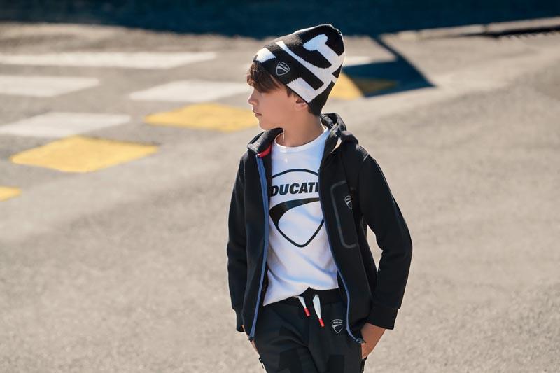 Детски спортен суитшърт с качулка Sarabanda Ducati  01383